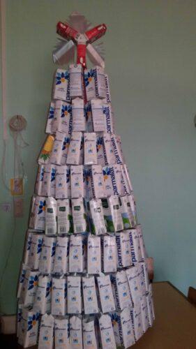 Montagem da árvore concluída.