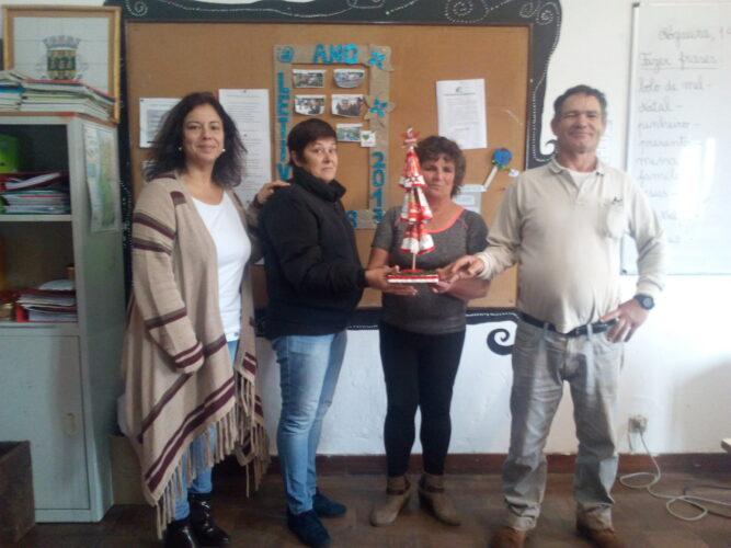 Professora e 3 alunos do 1ciclo do Ensino Recorrente