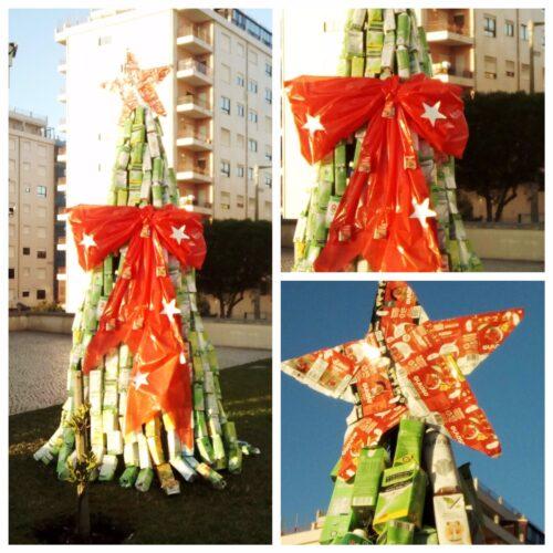Montagem finalizada da Árvore Natal ABADIAS