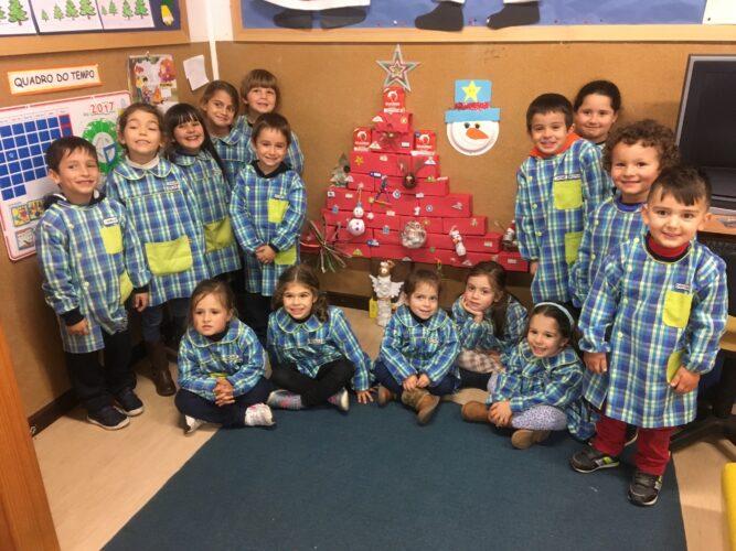 Os alunos e a sua árvore.