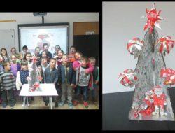 A turma/grupo com a árvore