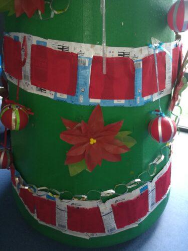 Enfeites de Natal (bolas, fitas e flores de natal)