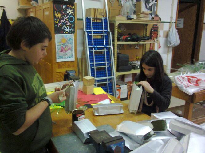 Preparação dos materiais