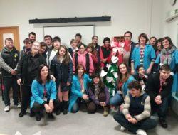 Grupo de alunos da equipa de educação adaptada
