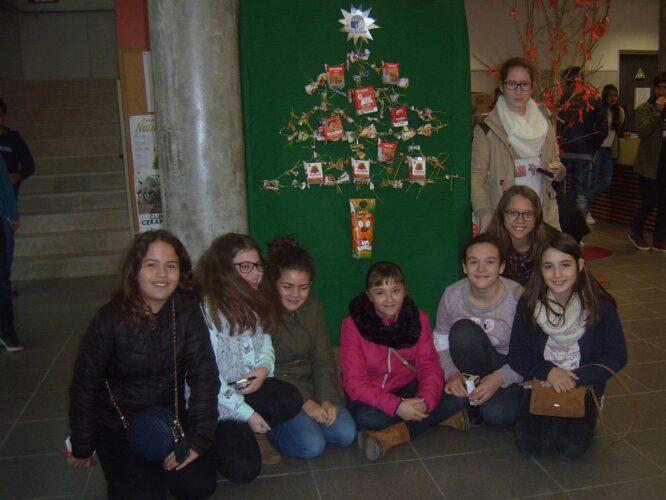 Grupo de alunos do 6º A que com a ajuda de duas professoras eco-escolas executaram o trabalho