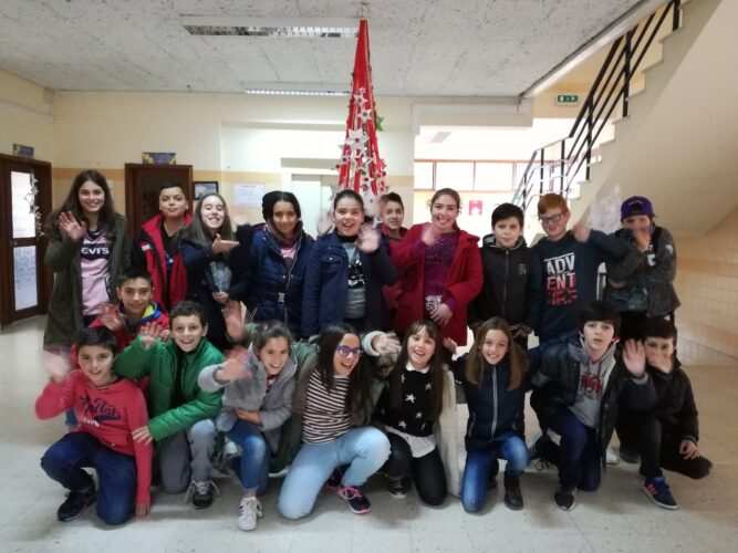 Grupo de alunos envolvido no desafio