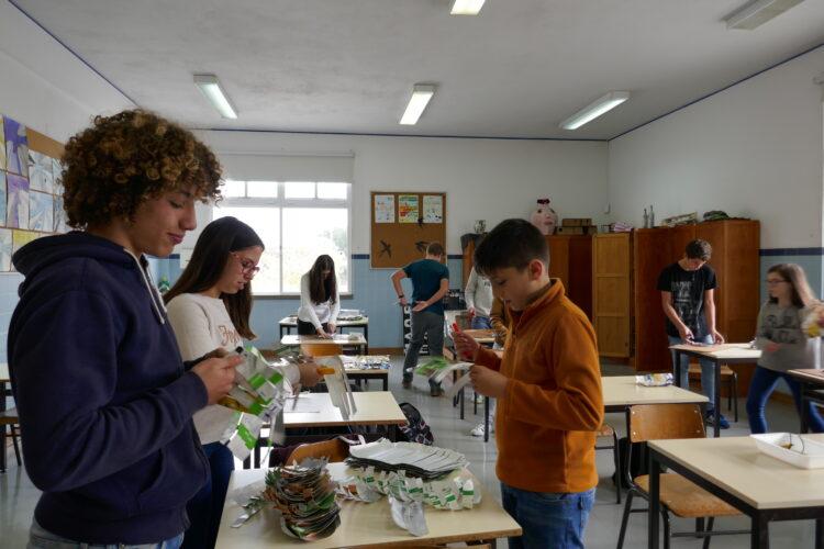 Preparação do material para a construção da Árvore.