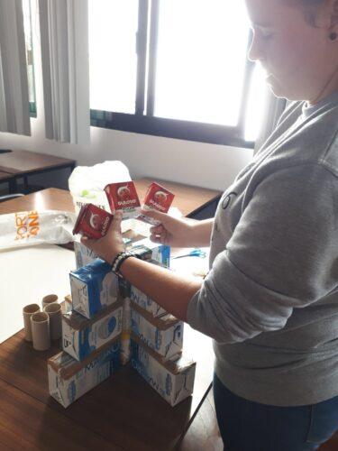Construção do projeto com a estudante de Enfermagem, Isabel Rodrigues.