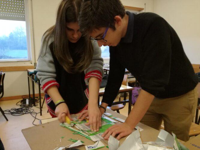 Greeners a preparar os materiais para a árvore