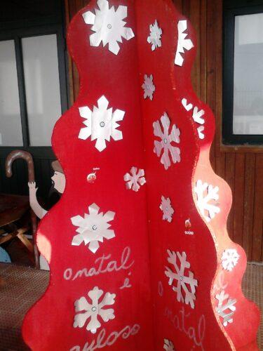 Detalhe da árvore de Natal.