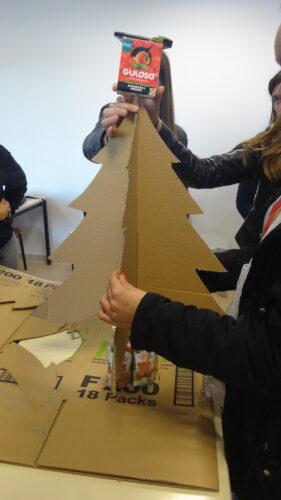 Construção da Árvore de Natal