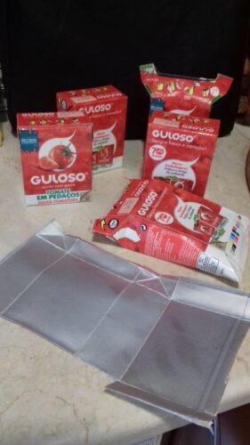 embalagens de Tomate Guloso usadas