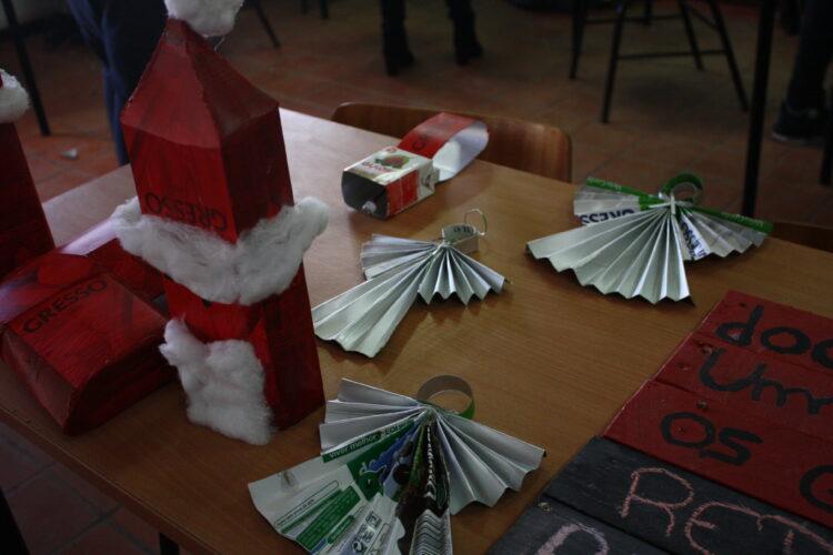 Execução dos adornos para a árvore de Natal